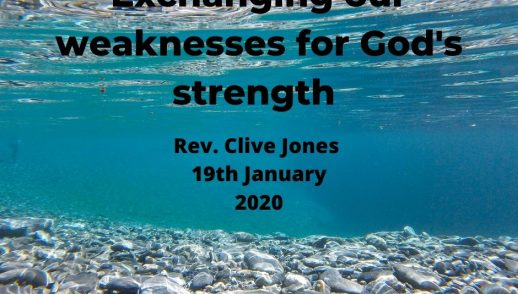 Exchanging our weaknesses for God's strength