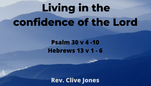 Living in the confidence of the Lord