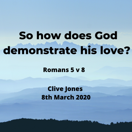 How does God show us he loves us?