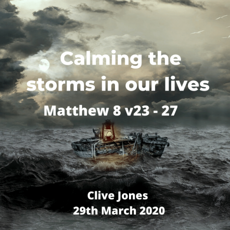 Calming the storms in our lives!