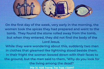 He isn't here! He is risen from the dead!