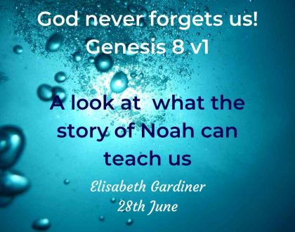 God never forgets us