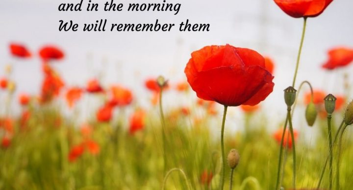 Remembrance Sunday Service 8th November 10:30am online