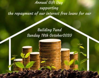 Annual Gift Day Sunday 18th October