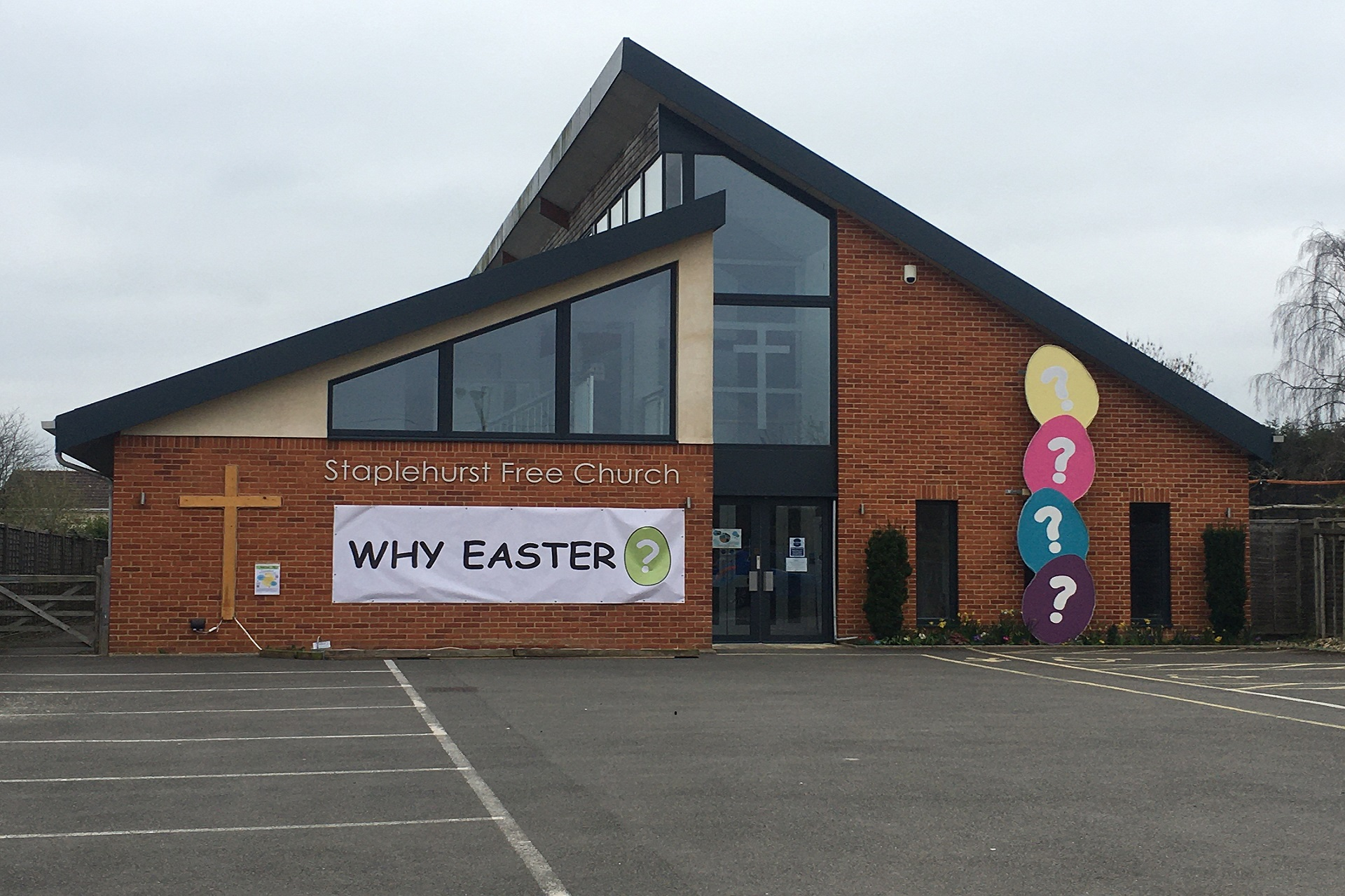 Our Easter frontage