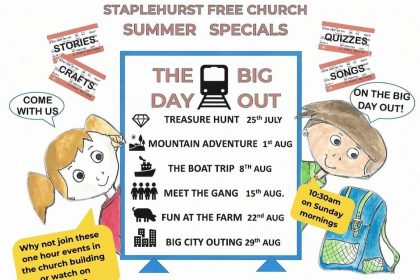 Sunday 29th August 10:30am Last in our series of Summer Specials