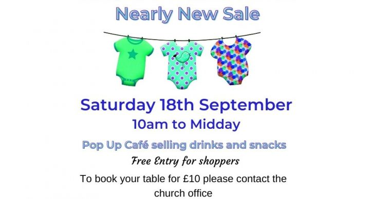 Nearly New Children & Baby Items Table Sale 18th September at 10am